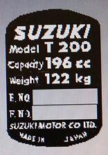 SUZUKI T200 HEADSTOCK FRAME RESTORATION DECAL