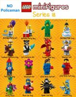 Lego Minifigures Series 18 has 16 figures (no policeman)