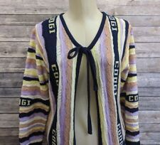 New Coogi Womens Spell Out Cardigan Sweater Size Medium MSRP $525