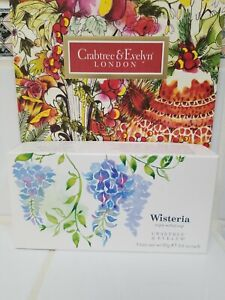 Crabtree & Evelyn WISTERIA Triple Milled Soap Set Of 3 New Boxed Free Shipping