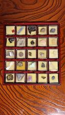 Antique Mini Stone Collection 25Set & 16 Set Minerals Amethyst Agate Asian Japan