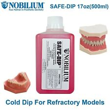 Nobilium Safe Cold Dip Dental Lab Refractory Model Partial Frame Works 17oz500ml