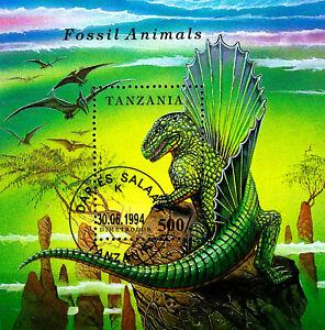 Tansania gestempelt Block Tier Dinosaurier prähistorisch Dimetrodon Urzeit Echse