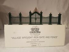 """Dept. 56 """"Village Wrought Iron Gate And Fence"""" Accessory"""