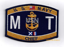 CHIEF MISSILE TECHNICIAN MTC RATING HAT PATCH USS US NAVY PIN UP ENLISTED GIFT