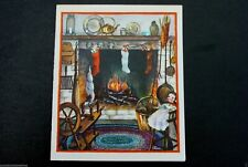 # I 728- Vintage Ellen Xmas Greeting Card Baby Doll in White Sitting on Chair