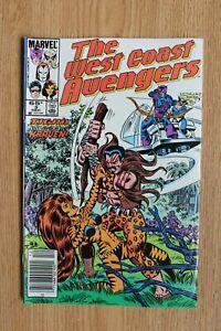 Marvel The West Coast Avengers #3 (Dec,1985) Kraven the Hunter app, Goliath app