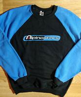 Alpinestars Mens Track Top Jacket Jumper Sweatshirt Crewneck Pullover Black Blue