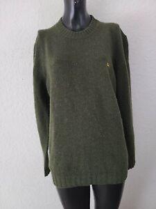 Burberry London Mens Large Green Shetland Wool Long Sleeve Sweater