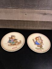 2- M.J. Hummel Goebel Vintage Collectible Annual Plates Set 1975 1976