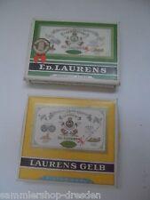 21056 2x Zigarettenschachtel LAURENS gelb vert gut pappe cardbox