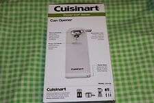 Cuisinart ( Power Cut Series ) Can Opener, Model Cco-50 White Deluxe Nib