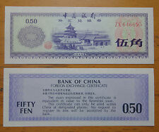 1979 bank of China foreign exchange certificate 5 jiao