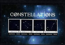 Guyana 2013 Mnh constelaciones me 4v m/s Aries Gemini Leo Scorpius estrellas Twins