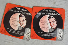 Lot of 2 Vintage 1950s 33 1/3 Advertising Records for Kenmore Products