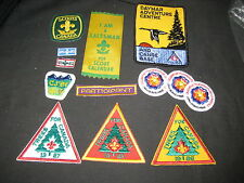 12 Boy Scouts of Canada patches--insignia, Trees & Salesman Ribbon         J4