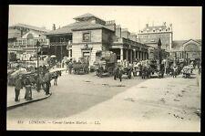 LONDON Covent Garden Market LL vintage PPC horse carts