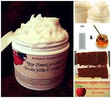 GOATS MILK, SHEA BUTTER & HONEY BODY CREAM, LOTION w/Jojoba - RED VELVET CAKE