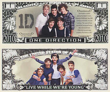 RARE: One Direction $1,000,000 Novelty Note, Music. Buy 5 Get one FREE