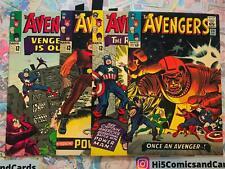 Avengers 20, 21, 22, 23 Lot VG/F Marvel Comics Swordsman Powerman 1965