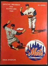1968 MLB Baseball Shea Stadium Program New York Mets Houston Astros Vintage