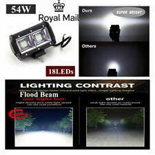 5 INCH 54W FLOOD BEAM LED WORK FOG LIGHT 8000 Lumens for Truck Motorcycle UK !