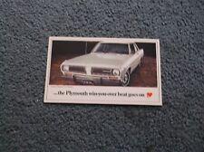 1968 Plymouth postcard