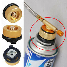 2pc Camping Gas Fuel Canister Stove Cans Tank Burner Cartridge Adapter Converter