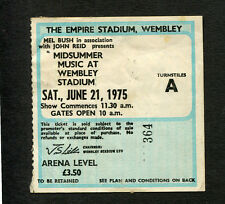 1975 Elton John Beach Boys Eagles concert ticket stub Midsummer Music London UK