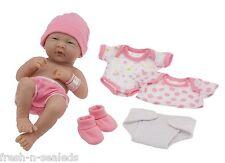"La Newborn Real 14"" Life Baby Girl Doll Set Brand Berenguer Like Original Pink"
