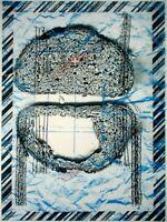 BERNHARD LEHMANN, Jevenstedt (*1944) Holzschnitt+Digitaldruck: - PAUSENBROT -
