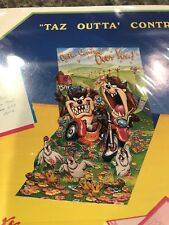 Taz Outta Control PopShots 3D Card Tasmanian Devil Looney Tunes NIP