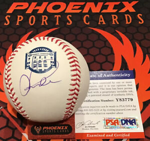 Alex Rodriguez Signed Autograph Major League Baseball Yankee Stadium PSA