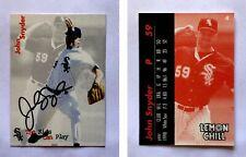 John Snyder Signed 1999 Lemon Chill #4 Card Chicago White Sox Autograph