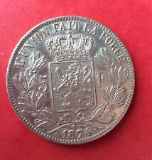 Belgique - Léopold II - Superbe monnaie de 5 Francs 1874