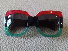 NEW Genuine Gucci GG0083S 001 Red - Black Gradient Lenses 55MM SUNGLASSES.