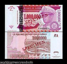 ZAIRE CONGO 1000000 1,000,000 ZAIRES P79 1996 SPECIMEN UNC DIAMOND MILLION NOTE