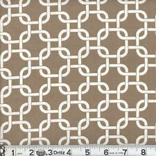 "2 yards of  ""Rope Links"" Khaki Fabric"