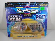 1995 MICRO MACHINES SPACE--STAR WARS XRAY FLEET--MILLENNIUM FALCON & SANDCRAWLER