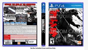 CUSTOM REPLACEMENT CASE Godzilla PS4 NO DISC SEE DESCRIPTION