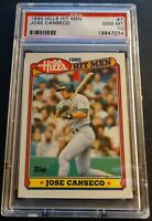 1990 JOSE CANSECO HILLS HIT MEN #7 PSA 10 POP 4 ATHLETICS (793)