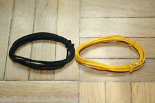 2 Mt BLACK & YELLOW GUITAR ELECTRIC 22 AWG VINTAGE CLOTH COVERED WIRE