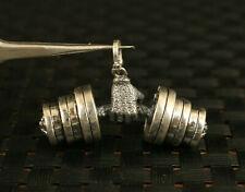 100% 925 Silver fashion dumbbell hang ornament Necklaces Pendants
