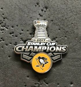 Pittsburgh Penguins 2017 Stanley Cup Champions NHL Hockey Pin
