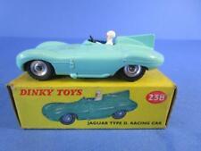 DINKY 238 JAGUAR D TYPE RACING CAR, ALL ORIG, RARE, SPUN WHEELS, 99% MIB!