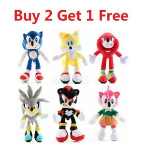 Sonic The Hedgehog Plush Knuckles Tails Stuffed Teddy Bear Soft Toy Anime New