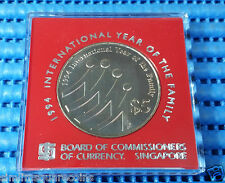 1994 Singapore International Year of Family Commemorative $5 Cupro-Nickel Coin