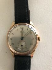 Beautiful 9ct Gold Trebex Swiss Made Gents Wristwatch Fully Serviced.