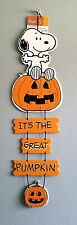 """20"""" Peanuts Halloween Decor ft. Snoopy - It's the Great Pumpkin (Charlie Brown)"""