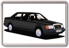 Kühlschrank-Magnet - Mercedes W124 E-Klasse Grafik Auto Kunst - Große